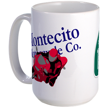 Image: A PCH / Montecito Motorcycle Co. coffee mug.