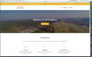Screen shot of 4D Analytics website.