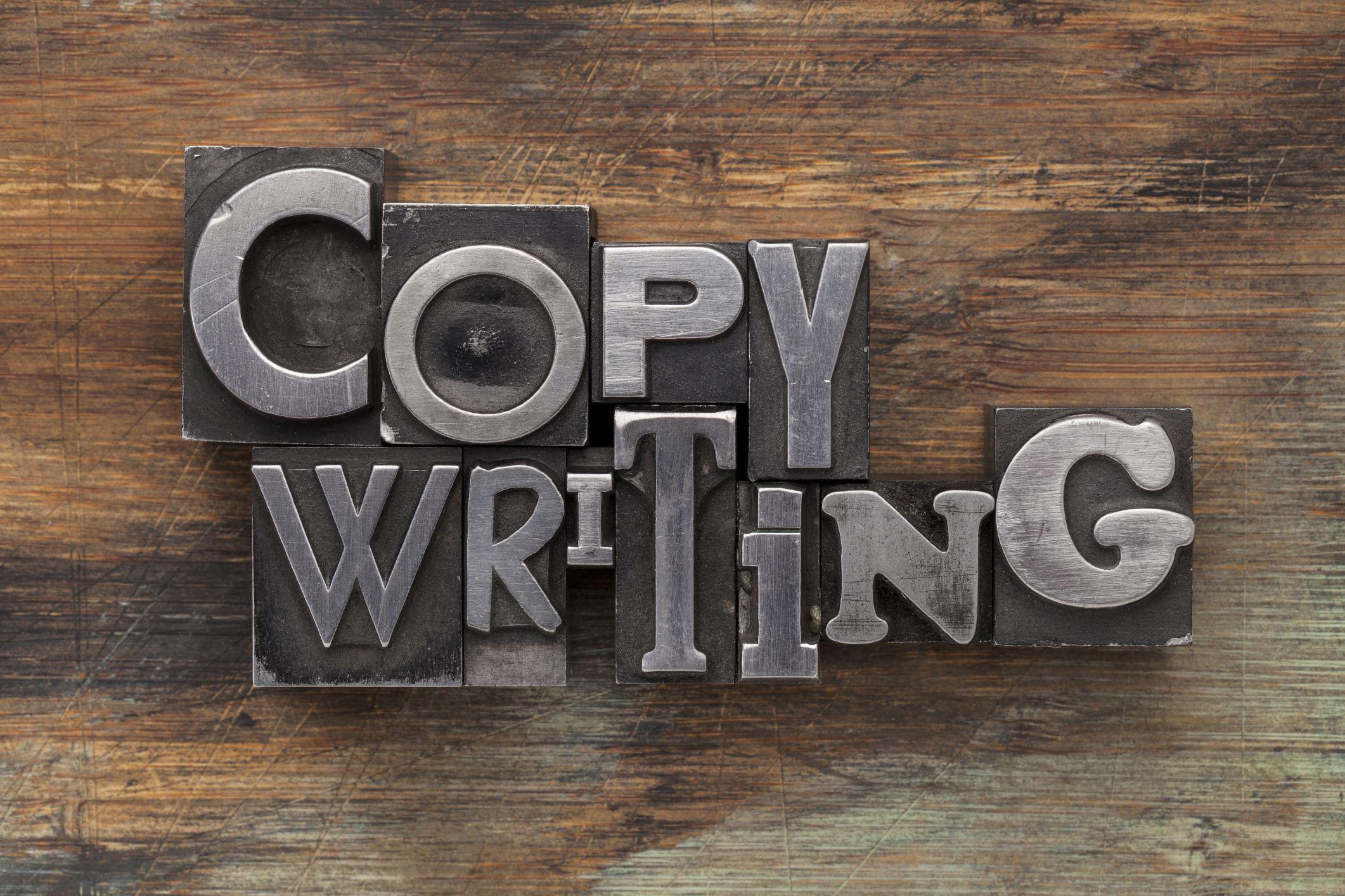 Stock Photo: Copywriting